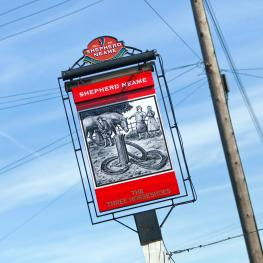 Three Horseshoes Faversham Swingsign